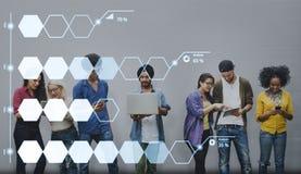 Begrepp för ekonomi för procentsats för information om analysstatistik Arkivbild