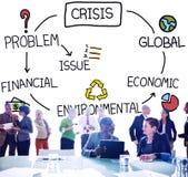 Begrepp för ekonomisk miljö- finans för kris globalt Royaltyfria Bilder