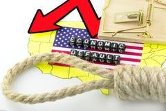 Begrepp för ekonomiska problem för USA Arkivbild