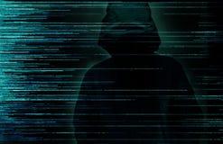 Begrepp för en hackerinternetbrott royaltyfri fotografi