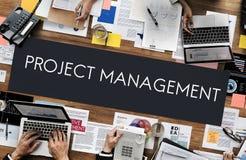 Begrepp för expertis för organisation för projektledning royaltyfri fotografi