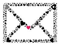 Begrepp för förälskelsebokstav Arkivfoton