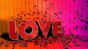 Begrepp för förälskelsebokstav Vektor Illustrationer