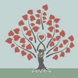 Begrepp för förälskelseträd Arkivbild
