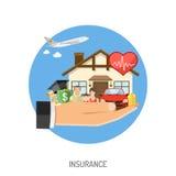 Begrepp för försäkringservice Arkivfoton
