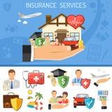 Begrepp för försäkringservice Royaltyfri Fotografi