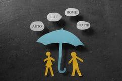 Begrepp för försäkringtäckning Arkivbild