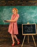 Begrepp för faktisk värld Läraren ger kurs i faktisk värld genom att använda bärbara datorn Kvinnabloggeren skriver skolabloggen  arkivbilder
