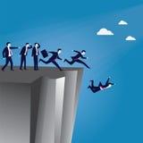 Begrepp för fel riktning för ledarskap stock illustrationer