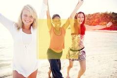 Begrepp för ferie för semester för sommar för kopieringsutrymmeram Arkivbild