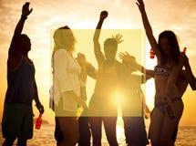 Begrepp för ferie för semester för sommar för kopieringsutrymmeram Royaltyfria Bilder