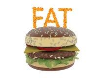 Begrepp för feta celler Fet isolat för ord på vit bakgrund vektor illustrationer