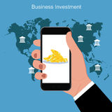 Begrepp för finansaffärsinvestering, vektorillustration Royaltyfri Fotografi