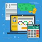 Begrepp för finansiell jämvikt Arkivbild