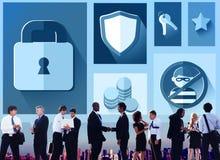 Begrepp för Firewall för lösenord för avskildhet för säkerhetsskydd royaltyfri foto