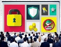 Begrepp för Firewall för lösenord för avskildhet för säkerhetsskydd fotografering för bildbyråer