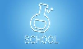 Begrepp för forskning för vetenskapsbiologi akademiskt vektor illustrationer