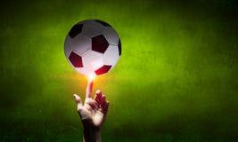 Begrepp för fotbollboll royaltyfria bilder