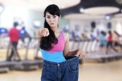 Begrepp för foto för viktförlust Arkivfoto