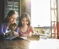 Begrepp för fotografi för ferie för resande för flickakamratskaphak Royaltyfria Foton