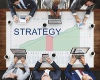 Begrepp för framgång för affär för vision för strategianalysplanläggning Arkivbilder