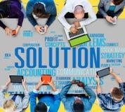 Begrepp för framsteg för lösningsframgångSloved beslut strategiskt vektor illustrationer
