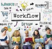 Begrepp för framsteg för Workflow för metodstrategiaffär royaltyfria bilder