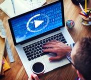 Begrepp för fritid för lansering för startknapp för lekmusikstart framåt Royaltyfri Fotografi