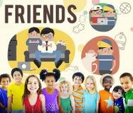 Begrepp för fritid för vänkamratskapaktivitet royaltyfri illustrationer