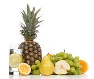 Begrepp för frukost för viktförlust med det organiska päronet för frukter Arkivfoto
