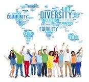 Begrepp för gemenskap för mångfaldetnicitetvärld globalt royaltyfri bild