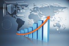 Begrepp för global affär, finans- och hud vektor illustrationer