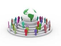begrepp för global by 3d Arkivbilder