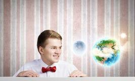 Begrepp för global kommunikation Arkivbild