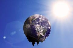 Begrepp för GLOBAL VÄRME och förorening Arkivfoton