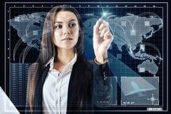 Begrepp för globalt nätverk och innovation royaltyfria foton