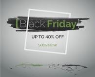 Begrepp för gräsplan för Black Friday försäljningsvektor för rengöringsduk eller annonsering: 40 av royaltyfria bilder