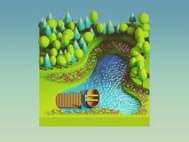 Begrepp för grön jord i isometrisk sikt stock illustrationer