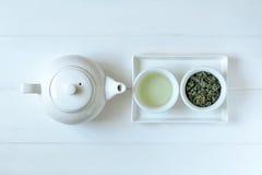 Begrepp för grönt te arkivbild