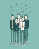 Begrepp för gruppfolkaffär och affärsteamwork royaltyfri illustrationer