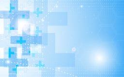 Begrepp för hälsovård för vektorbakgrundsabstrakt begrepp royaltyfri illustrationer