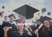 Begrepp för högskoleutbildning för universitetakademiuniversitetsområde arkivfoton