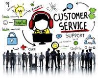 Begrepp för handbok för hjälp för service för kundtjänstservicehjälp royaltyfri illustrationer