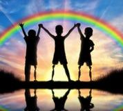 Begrepp för handikapp för barn` s arkivbild