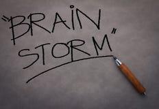 Begrepp för hjärnstorm jpg Arkivbild