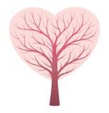 Begrepp för hjärtaskyttelträd Arkivfoton