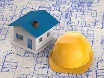 Begrepp för husbyggnad Royaltyfri Bild