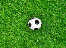 Begrepp för idé för bakgrund för sport för fotboll för fotboll för fält för grönt gräs Royaltyfria Foton