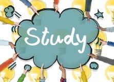 Begrepp för idéer för utbildning för studiekunskapsutveckling vektor illustrationer