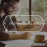 Begrepp för identitet för egenartteckenpersonlighet royaltyfria foton